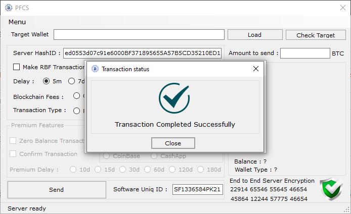 Fake bitcoin sender